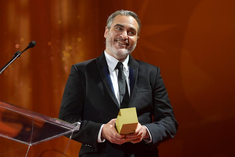 Joaquin Phoenix receives the TIFF Tribute Actor Award for