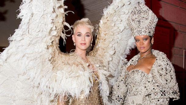 PHOTO: Katy Perry and Rihanna at The Metropolitan Museum of Art on May 7, 2018 in New York City. (Kevin Tachman/Getty Images, FILE)