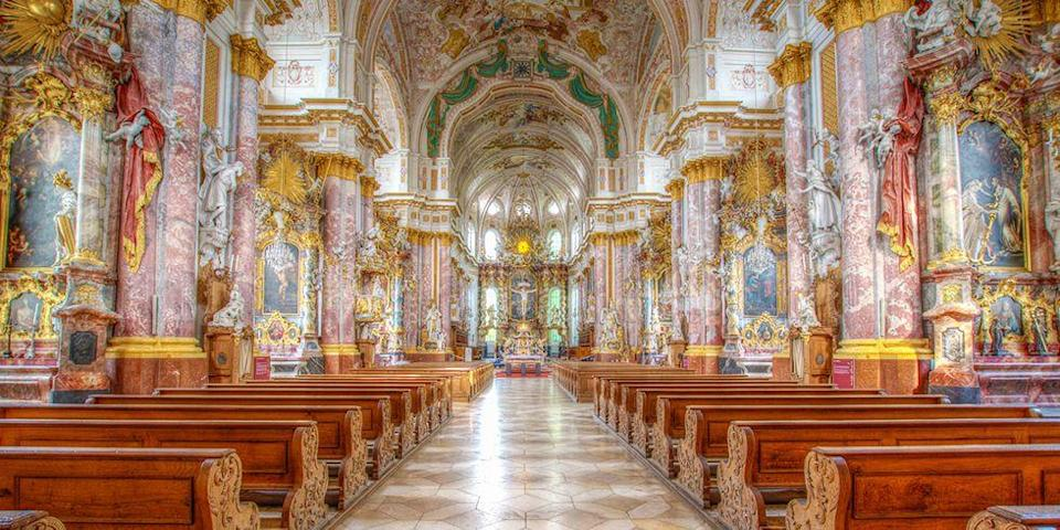 """<p>If you don't speak the language fluently, a lot of German names don't exactly come out eloquently. Despite its tongue-twister name, the quaint town boasts some pretty incredible attractions, like this jaw-dropping, baroque monastery built in 1263 by Ludwig II. We recommend adding this charming town to your <a href=""""http://www.goodhousekeeping.com/life/relationships/a43390/distracted-driving-killed-my-father-laura-carney/"""" rel=""""nofollow noopener"""" target=""""_blank"""" data-ylk=""""slk:bucket list"""" class=""""link rapid-noclick-resp"""">bucket list</a> stat.</p>"""