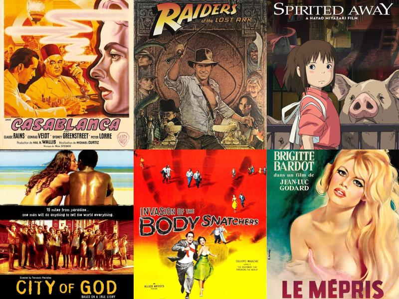 42 films to see before you die, from Casablanca to Spirited Away