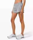 """""""These are my all-time favorite running shorts, and they have been for five-plus years. They're really loose and baggy around my thighs and have a great pocket on the side for keys, cards, etc. They never ride up during a long run!"""" —Whitney Cook, 11x marathon runner $58, Lululemon. <a href=""""https://shop.lululemon.com/p/women-shorts/Tracker-Short-V/_/prod8555412?color=47780"""" rel=""""nofollow noopener"""" target=""""_blank"""" data-ylk=""""slk:Get it now!"""" class=""""link rapid-noclick-resp"""">Get it now!</a>"""