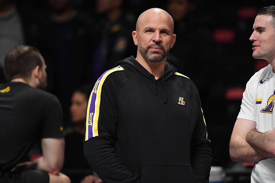 Los Angeles Lakers assistant coach Jason Kidd. (Matteo Marchi/Getty Images)