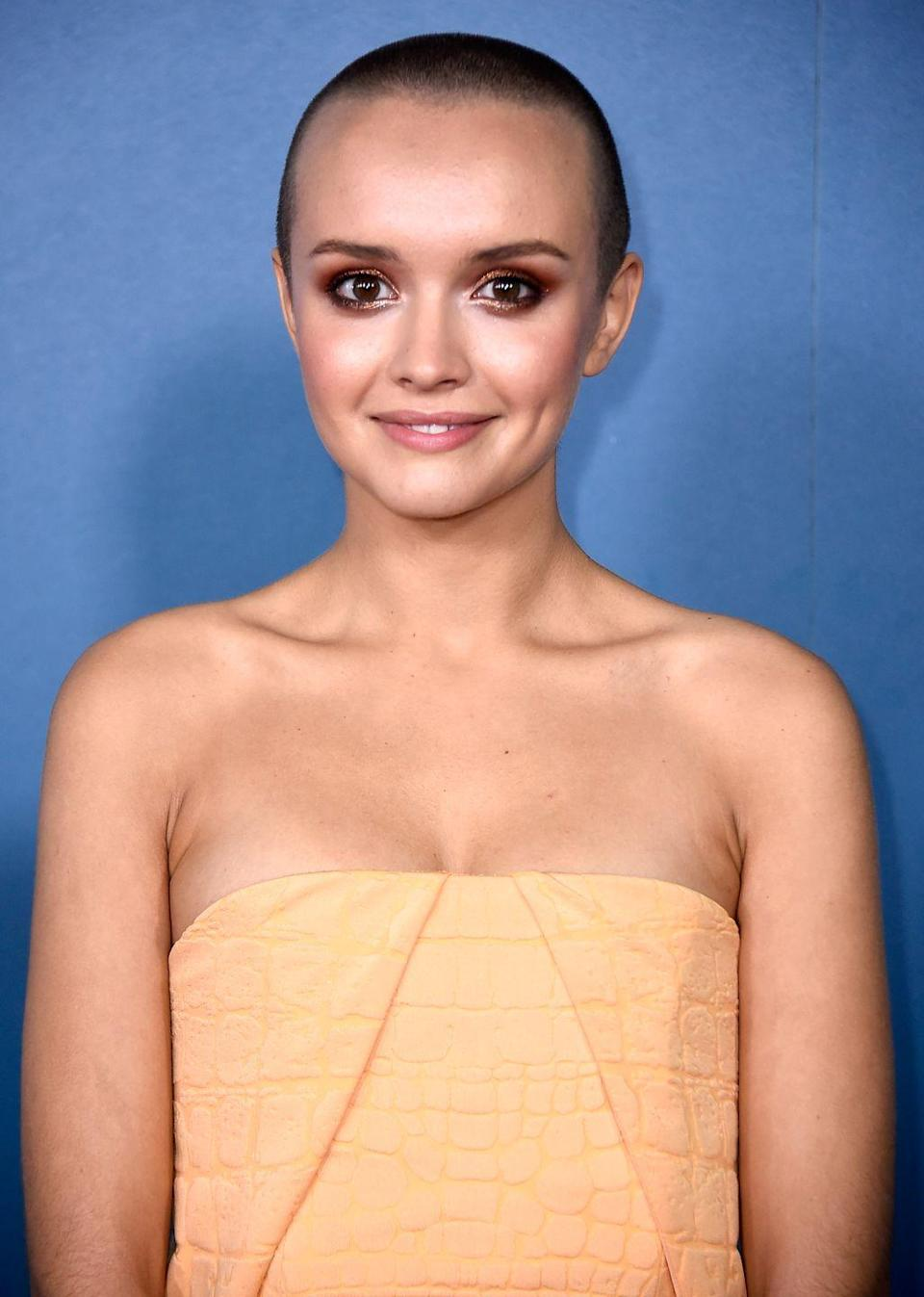 """<p>Olivia Cooke committed to the role of a leukemia patient in <em>Me and Earl and the Dying Girl</em> by shaving off her auburn locks. """"It was the best thing I did to get into character and to feel all of the emotions I was supposed to be feeling at the time,"""" Cooke said <a href=""""https://www.youtube.com/watch?v=oleX-bRJZUw"""" rel=""""nofollow noopener"""" target=""""_blank"""" data-ylk=""""slk:in a TV interview"""" class=""""link rapid-noclick-resp"""">in a TV interview</a>. </p>"""