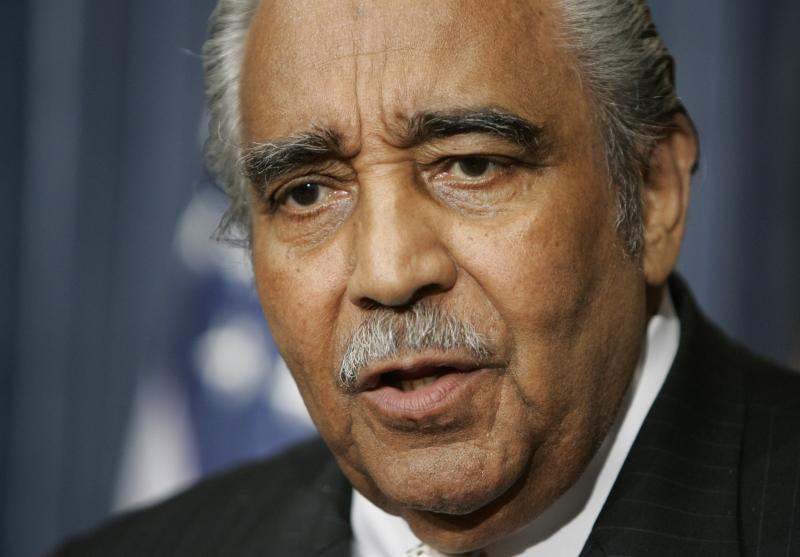 FILE – In this Jan. 11, 2007, file photo Rep. Charles Rangel, D-N.Y., speaks about a bill that would re-institute the military draft on Capitol Hill in Washington.   In early February 2013 Rangel introduced yet another bring-back-the-draft bill that also would require women to register. (AP Photo/Manuel Balce Ceneta, File)