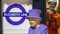 """<p>At the site of the new Bond Street Crossrail station, The Queen this year formally unveiled a new roundel for the Crossrail line which is to be renamed the """"Elizabeth line"""" from December 2018 when it opens to passengers. (Richard Pohle/The Times/PA Wire) </p>"""