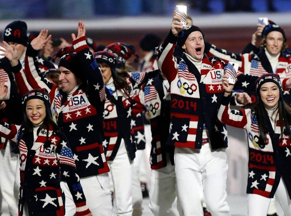 Olympics Team USA Uniforms Over the Years, 2014