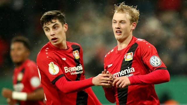 Bayer Leverkusen qualified for the Champions League, boosting their hopes of keeping Julian Brandt and Kai Havertz, according to Peter Bosz.