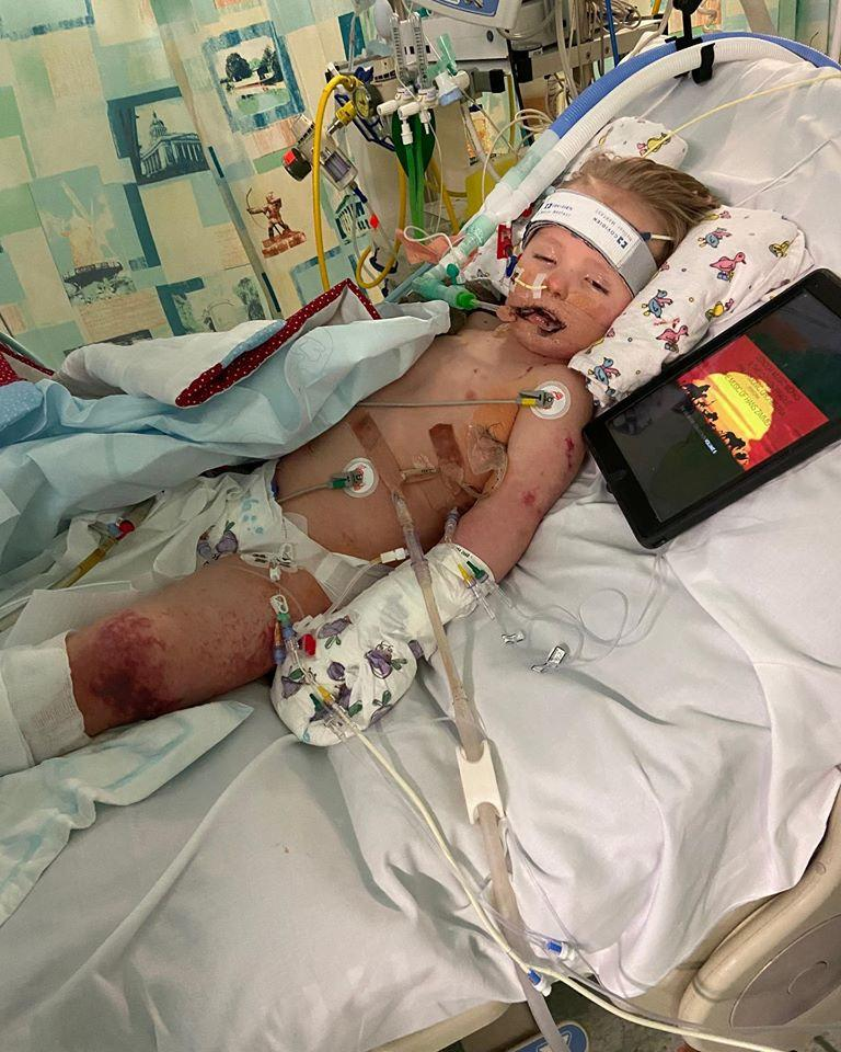 William Reckless poorly in hospital (Picture: SWNS)