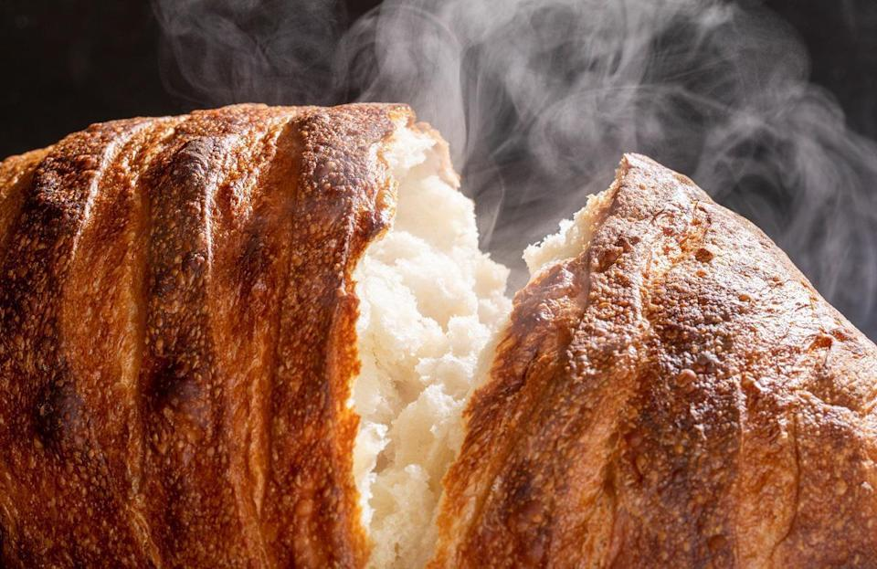 """<p>In the same vein, it's important to know how to incorporate steam when baking bread. The easiest way to do so is by spraying the loaf with warm water before putting it in the oven and again five minutes later. This is also a <a href=""""https://www.thedailymeal.com/cook/easy-recipes-kid-dinner-dessert-crafts?referrer=yahoo&category=beauty_food&include_utm=1&utm_medium=referral&utm_source=yahoo&utm_campaign=feed"""" rel=""""nofollow noopener"""" target=""""_blank"""" data-ylk=""""slk:fun way to get your kids in on the cooking process"""" class=""""link rapid-noclick-resp"""">fun way to get your kids in on the cooking process</a> — let them spray the bread before putting it in the oven.</p>"""