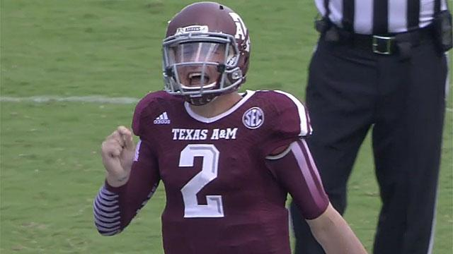 Johnny Manziel trash talks a Rice defender, says he won't give him an autograph (Video)