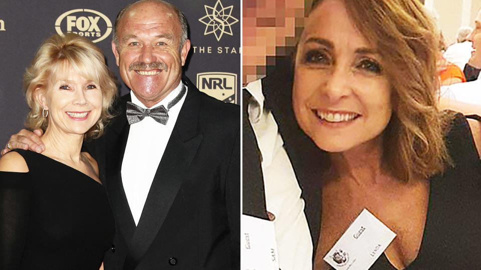 Wally Lewis, pictured here with wife Jacqui before their split.