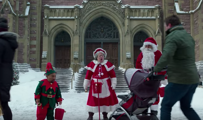 Tony Cox, Kathy Bates, and Billy Bob Thornton in 'Bad Santa 2' (Broad Green Pictures)