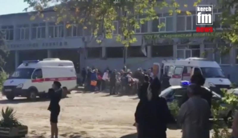18 killed, dozens injured by teen shooter at Crimea school