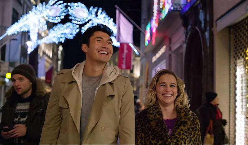 In the Paul Feig-directed romcom, Henry Golding plays the optimistic Tom while Emilia Clarke stars as a down-on-her-luck shop assistant. — Screengrab from YouTube/Universal Pictures