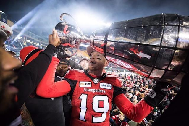 """Calgary Stampeders general manager John Hufnagel feels optimistic he can re-sign quarterback Bo Levi Mitchell.The CFL star is among several players scheduled to become free agents Tuesday.""""He's not signed yet,"""" Hufnagel said Monday at McMahon Stadium. """"We're talking. I'm very optimistic something will get done. I just don't know when.""""After leading the Stampeders to a Grey Cup and winning the award for the CFL's most outstanding player for the second time in his career, Mitchell worked out for several NFL teams in the off-season.No deal was announced south of the border for the 28-year-old from Katy, Texas, contributing to Hufnagel's confidence in bringing Mitchell back in the fold.""""I would expect that if he was going to sign an NFL contract, it would have been done, but what I expect and what's actually going on behind closed doors, I'm not sure,"""" the GM said.The other hurdle to retaining Mitchell, however, is the price tag.If Edmonton Eskimos quarterback Mike Reilly can command around $700,000, as he is rumoured to be able to do when he hits the free-agent market Tuesday, the bidding for Mitchell couldn't be far off that number.""""It's quite significant no question about it,"""" Hufnagel said.""""I have a budget with Bo Levi. Now, I said I'm optimistic, but does it fit the budget? We'll have to see. I have a good number. Hopefully that number works.""""It will also have to be a competitive number because of the unusual number of established quarterbacks on the market this year.Ottawa's Trevor Harris joins Mitchell and Reilly as the free-agency headliners, but only Hamilton (Jeremiah Masoli) and Winnipeg (Matt Nichols) have starters under contract.""""I haven't lost any sleep over other people's quarterback situations,"""" Hufnagel stated. """"I'm concerned about mine.""""Mitchell has thrown for almost 25,000 yards and 150 touchdown passes in his seven seasons with Calgary, including five as starter.His backup Nick Arbuckle scored five short-yardage touchdowns and threw for 144 yards in """