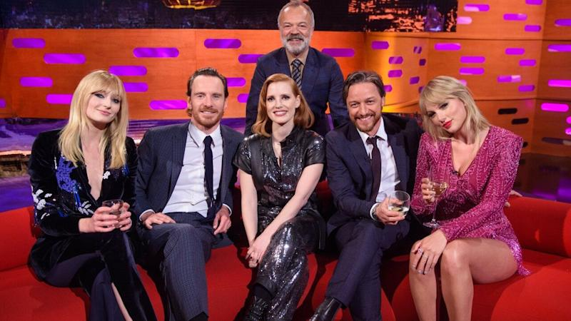 Sophie Turner and Taylor Swift Were Totally Twinning During 'Graham Norton Show' Appearance -- Pics!