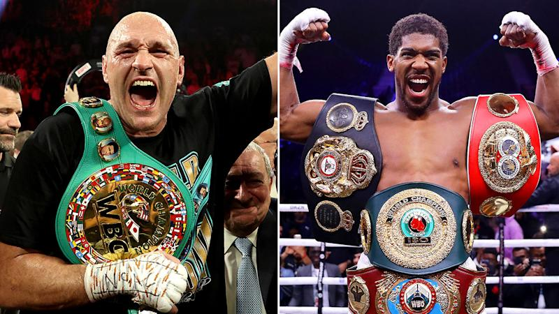 Pictured here, Tyson Fury and Anthony Joshua are set to fight each other next year.
