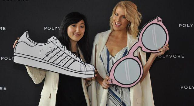 Jess Lee and Erin Holland at the Polyvore Australia media launch. Photo: Instagram
