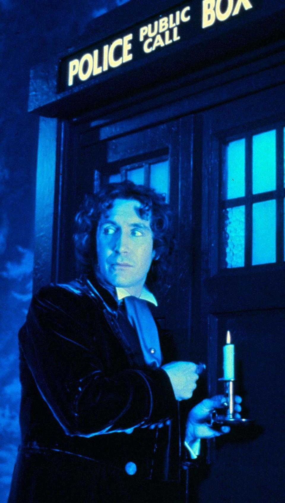 Paul McGann outside the Tardis in 'Doctor Who: The Movie'Alamy