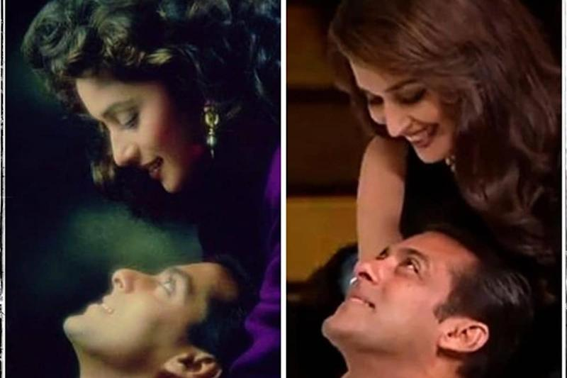 26 Years of Hum Aapke Hain Koun: Madhuri Dixit Shares 'Then and Now' Collage with Salman Khan