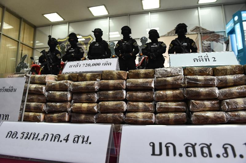 """Thailand and Malaysia are top markets for """"yaba"""" tablets, or methamphetamine mixed with caffeine (AFP Photo/Lilian Suwanrumpha)"""