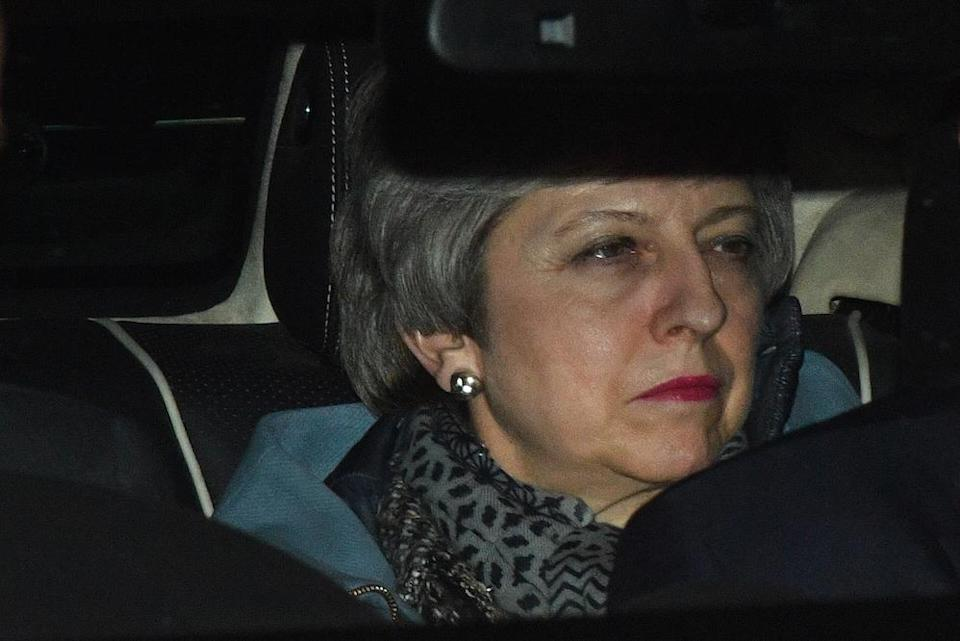 Prime minister Theresa May leaves the House of Commons after MPs failed to back proposals on alternatives to her EU withdrawal deal (Picture: PA)