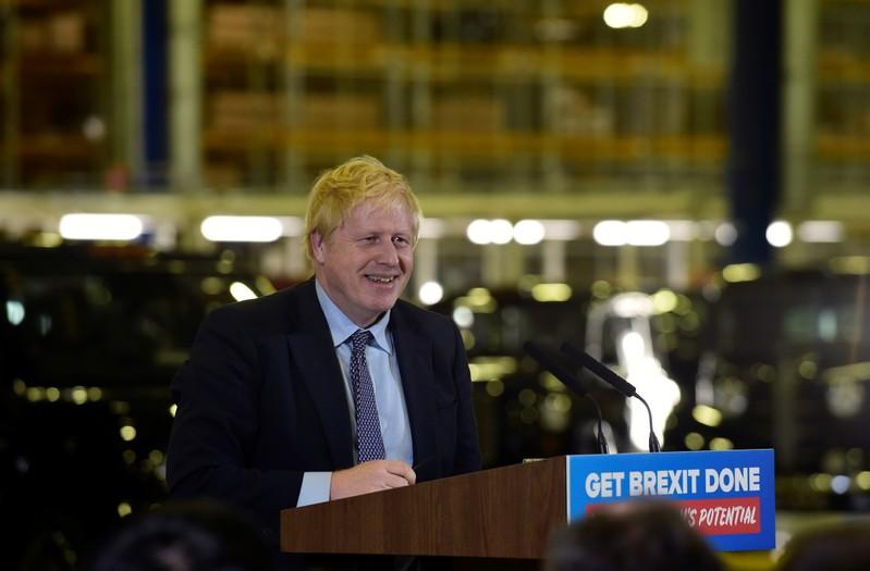 Poll gives PM Johnson's Conservatives 10 point lead in election race