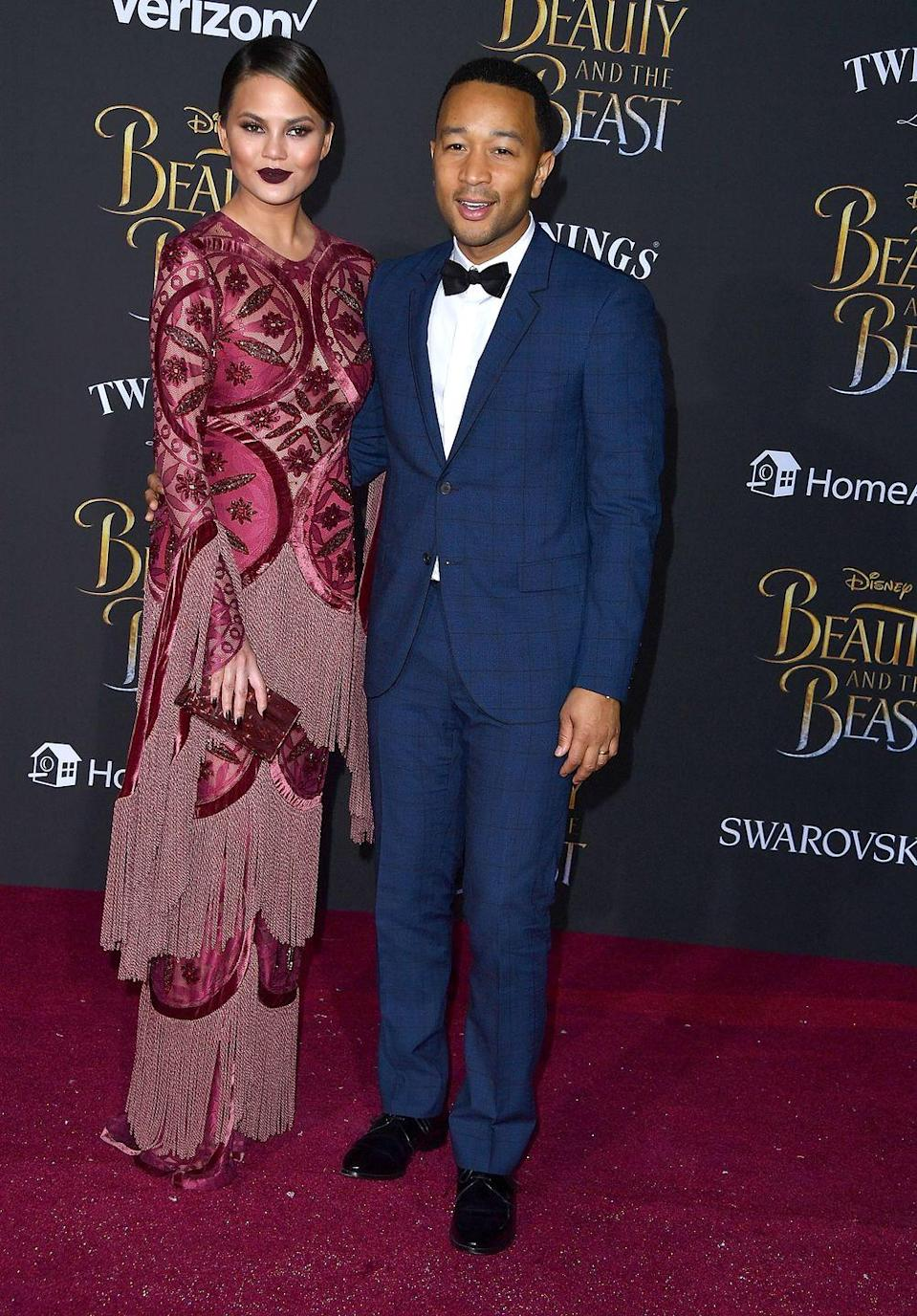<p>Oozing red carpet glamour at the Beauty and the Beast premiere.</p>