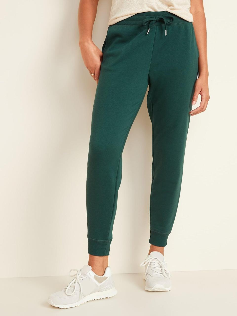 <p>The forest green shade of these <span>Old Navy Mid-Rise Tapered-Leg Jogger Pants</span> ($30) is so cute.</p>