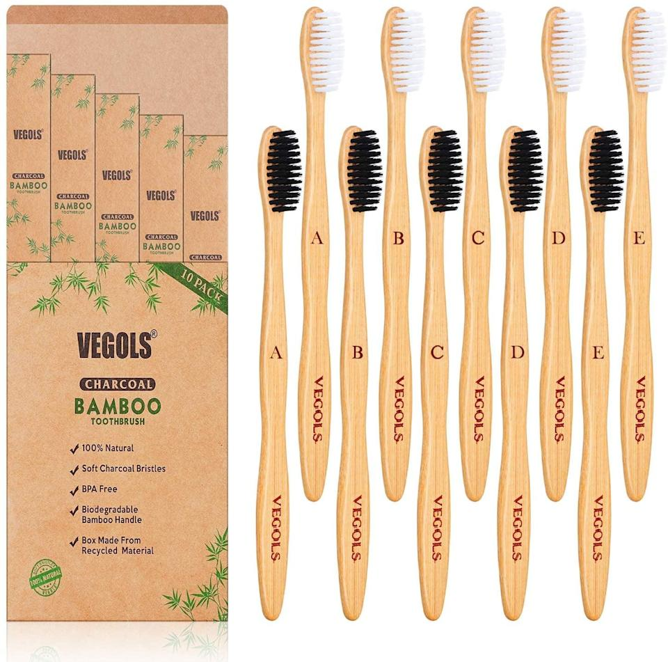 <p>This <span>Biodegradable Bamboo Toothbrush</span> ($8) cleaned my teeth just as good as my electric one, and it came packaged in a box made of recyclable material.</p>