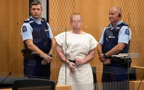 Brenton Tarrant appears in the Christchurch District Court - Credit: Reuters