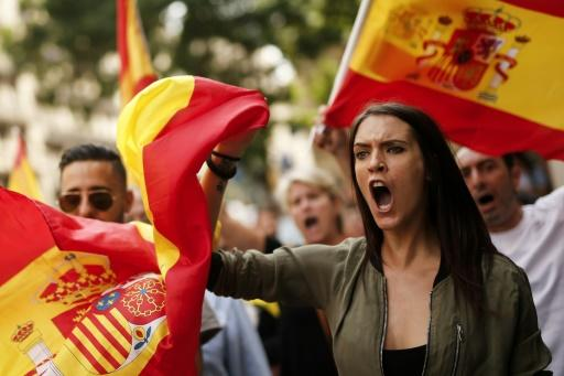 Prospanische Demonstranten in Barcelona