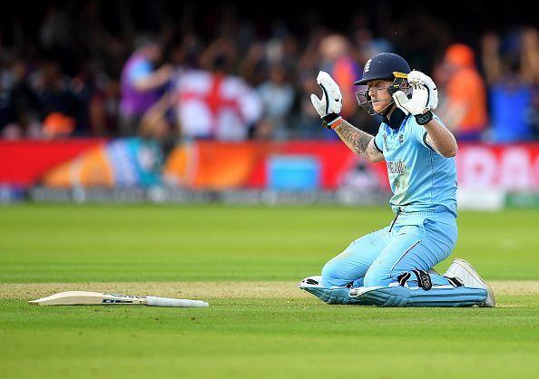 Stokes inadvertently deflected Guptill's throw to the boundary