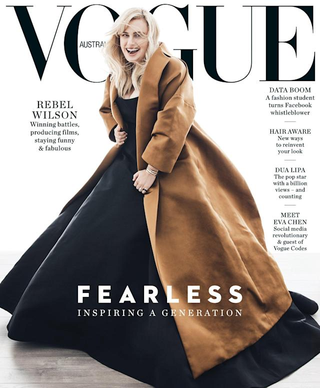 Rebel Wilson graces the cover of Vogue Australia's June issue. (Photo: Nicole Bentley for Vogue Australia)