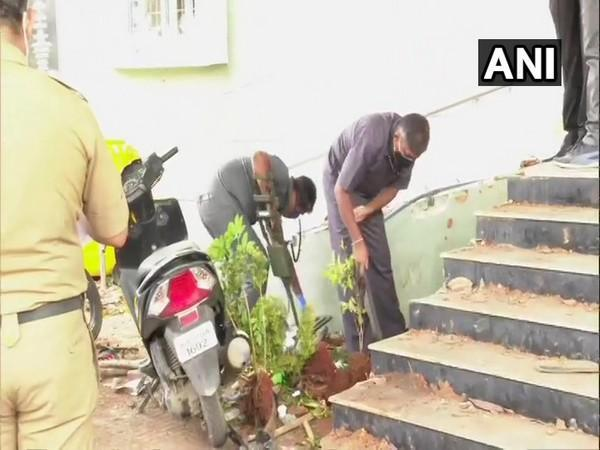 Forensics teams at work in Bengaluru collecting evidence after violence in Bengaluru. Photo/ANI