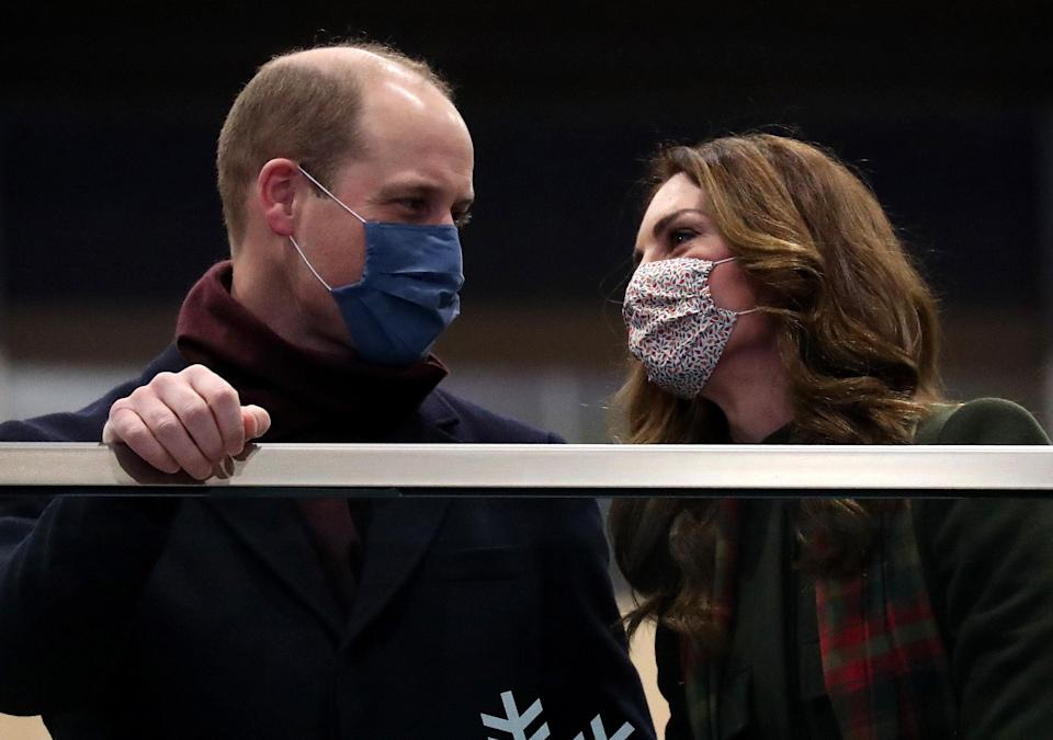 William and Kate embark on a tour to thank frontline workers, 6 December 2020Getty Images