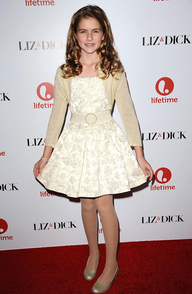 "Taylor Ann Thompson attends the premiere of Lifetime's ""Liz & Dick"" at the Beverly Hills Hotel on November 20, 2012 in Beverly Hills, California."