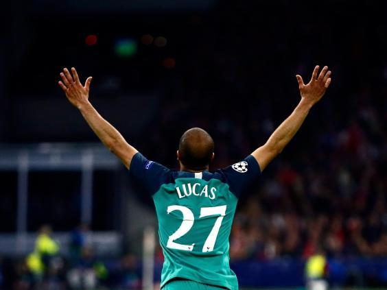 Lucas Moura helped pull off a historic comeback against Ajax (AP)