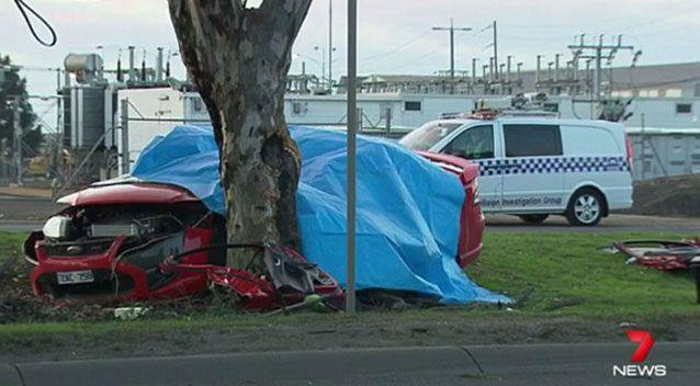 The crash scene in Laverton North. Source: 7News