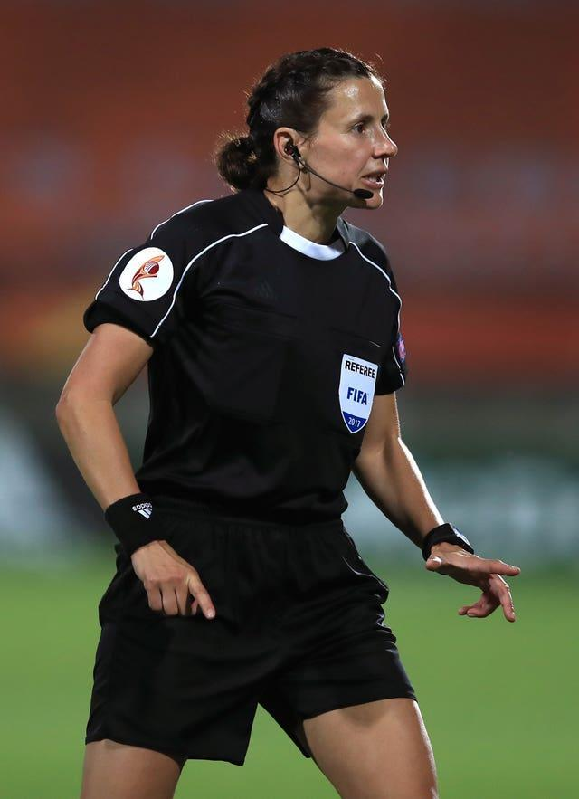 Kateryna Monzul will become the first woman to referee an England match