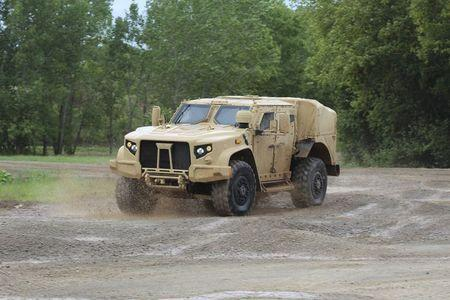 Oshkosh JLTV military vehicle is shown in Oshkosh, Wisconsin in this picture taken on August 19, 2015 and released to Reuters on August 23, 2015. REUTERS/Oshkosh Corporation/Handout via Reuters