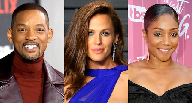 Will Smith, Jennifer Garner, and Tiffany Haddish are some of the celebs sharing their early headshots. (Photos: Getty Images)