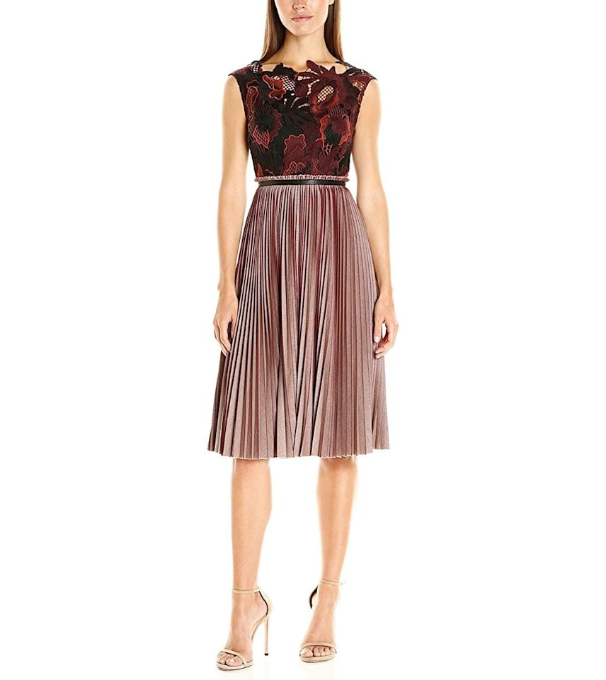 """<p><em>Tracy Reese Lace Bodice Dress, $548, available at <a rel=""""nofollow"""" href=""""http://amzn.to/2hOyXoz?mbid=synd_yahoostyle"""">amazon.com</a></em></p>"""