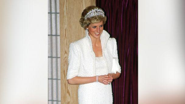 PHOTO: Diana, Princess of Wales wears the 'Elvis dress' during a visit to the Culture Center in Hong Kong, Nov. 8, 1989. (Tim Graham/Getty Images)