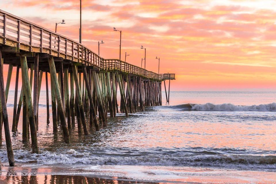 """<p>With miles of beaches, top-ranked restaurants, and epic views, Virginia Beach is certainly a destination you'll want to add to your bucket list. The <a href=""""https://www.visitvirginiabeach.com/explore/attractions/boardwalk/"""" rel=""""nofollow noopener"""" target=""""_blank"""" data-ylk=""""slk:Virginia Beach Boardwalk"""" class=""""link rapid-noclick-resp"""">Virginia Beach Boardwalk</a> stretches from 2nd street to 40th street, and is packed with restaurants, shops, and other fun activities for families. Don't forget to stop by <a href=""""https://www.visitvirginiabeach.com/explore/beaches-districts/sandbridge/"""" rel=""""nofollow noopener"""" target=""""_blank"""" data-ylk=""""slk:Sandbridge Beach"""" class=""""link rapid-noclick-resp"""">Sandbridge Beach</a>, <a href=""""http://www.first-landing-state-park.org/first_landing_swimming.html"""" rel=""""nofollow noopener"""" target=""""_blank"""" data-ylk=""""slk:First Landing State Park"""" class=""""link rapid-noclick-resp"""">First Landing State Park</a>, <a href=""""https://preservationvirginia.org/historic-sites/cape-henry-lighthouse/"""" rel=""""nofollow noopener"""" target=""""_blank"""" data-ylk=""""slk:Cape Henry Lighthouse"""" class=""""link rapid-noclick-resp"""">Cape Henry Lighthouse</a>, <a href=""""https://militaryaviationmuseum.org/"""" rel=""""nofollow noopener"""" target=""""_blank"""" data-ylk=""""slk:Military Aviation Museum"""" class=""""link rapid-noclick-resp"""">Military Aviation Museum</a>, and the <a href=""""https://www.virginiaaquarium.com/Pages/default.aspx"""" rel=""""nofollow noopener"""" target=""""_blank"""" data-ylk=""""slk:Virginia Aquarium & Marine Science Center"""" class=""""link rapid-noclick-resp"""">Virginia Aquarium & Marine Science Center</a>. </p>"""