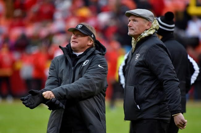 Mayock preaches patience for Raiders rookies