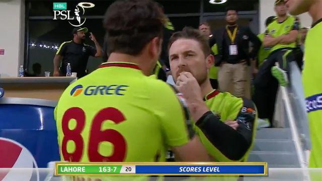 Brendon McCullum was highly confused by it all. Image: PSL