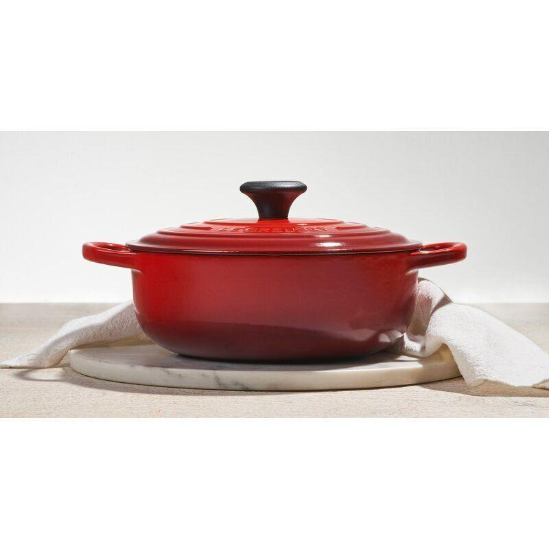 "Find this Le Creuset 3.5 qt. Cast Iron Round Sauteuse <a href=""https://fave.co/3jAO2JQ"" target=""_blank"" rel=""noopener noreferrer"">on sale for $180 (normally $300) at Wayfair.</a>"