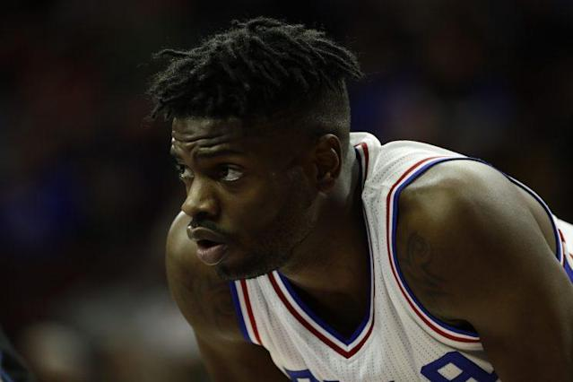 "<a class=""link rapid-noclick-resp"" href=""/nba/players/5157/"" data-ylk=""slk:Nerlens Noel"">Nerlens Noel</a> likes his role … for now. (AP)"