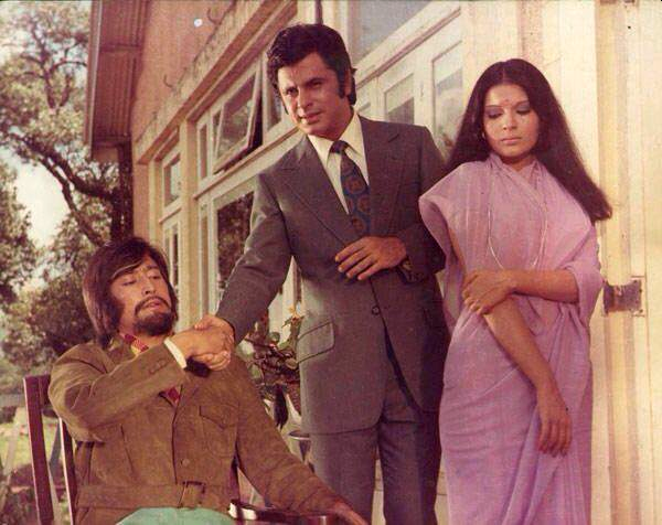 Danny Denzongpa, Sanjay Khan and Zeenat Aman in Dhund
